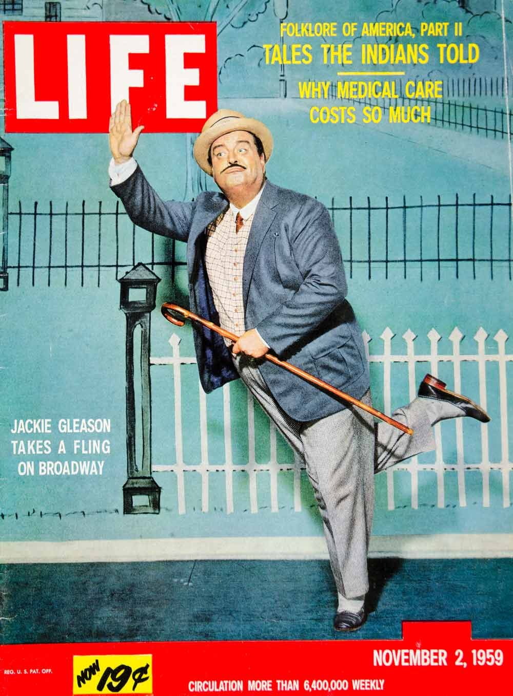 1959 Cover LIFE Magazine Jackie Gleason TV Stage Actor Comic Comedian Mark YLMC2