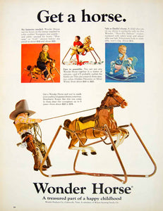 1966 Ad Vintage Wonder Horse Toy Rocking Shoo-Fly Rocker Riding Child Baby YLZ2