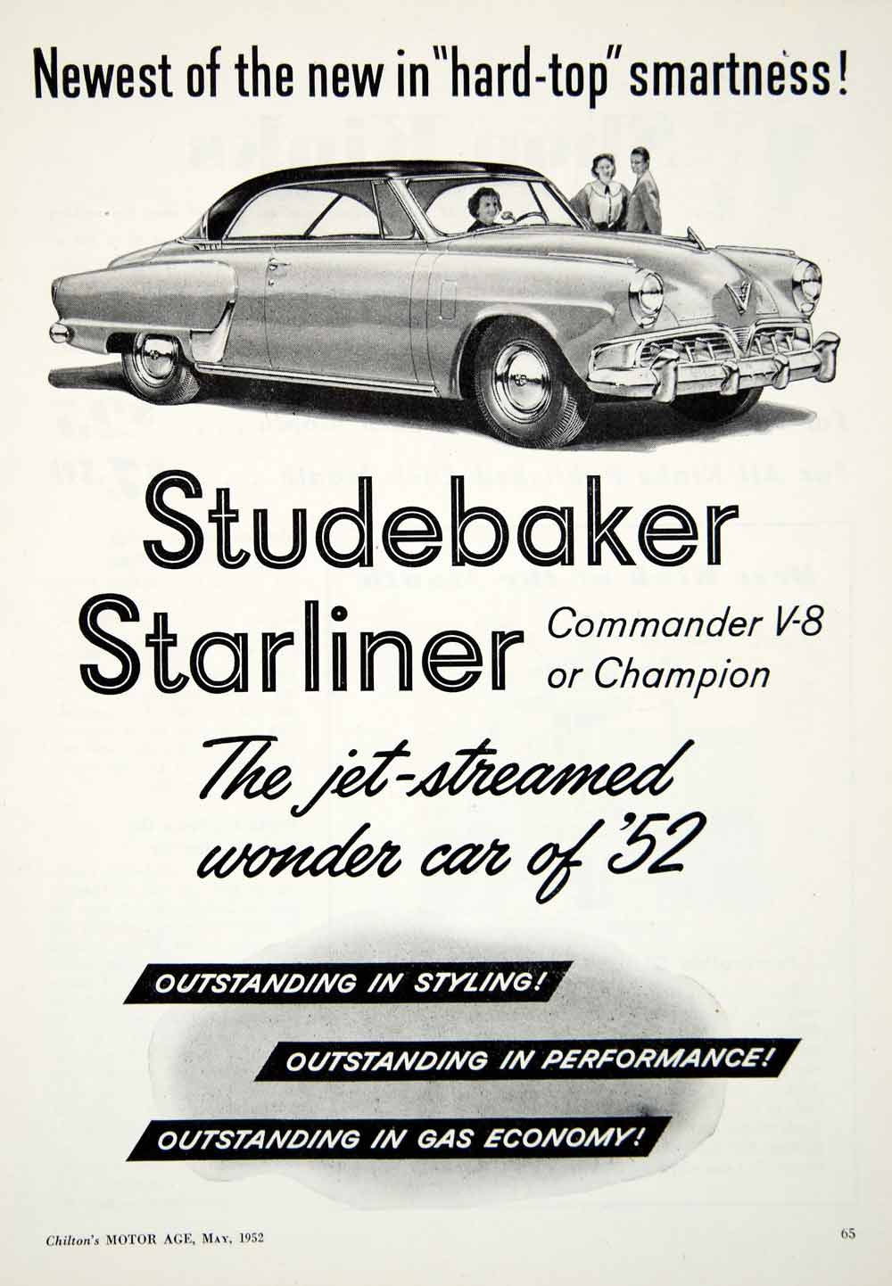 Vintage Advertising Art Tagged Studebaker Period Paper Wiring Diagram For 1952 Champion And Commander Ad Starliner V 8 Automobile Car Vehicle Yma1