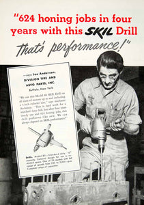 1952 Ad Skil Drill Automotive Joe Anderson Division Tire Auto Parts Buffalo YMA1