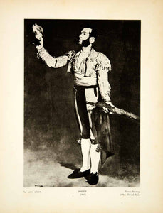1932 Photogravure Edouard Manet Art Matador Portrait Spanish Bullfighting YMF2