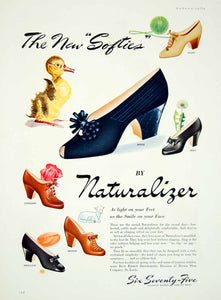 1941 Ad Vintage Naturalizer Shoes Women 40's Fashion Footwear Pumps St YMM3