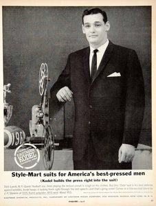 1961 Ad Eastman Kodel Polyester Suit Dick Lynch New York Giants Football YMM4
