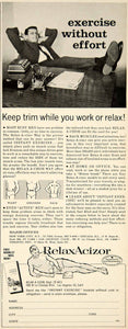 1962 Ad Relax-A-Cizor Passive Exercise Machine Advertising Weight YMM5