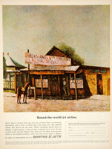 1963 Ad Qantas Airlines Australian Office Duck Street Longreach Queensland YMM6