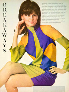 1966 Ad Vintage Jonathan Hitchcock Geometric Dress Mod Fashion 60s YMMA1