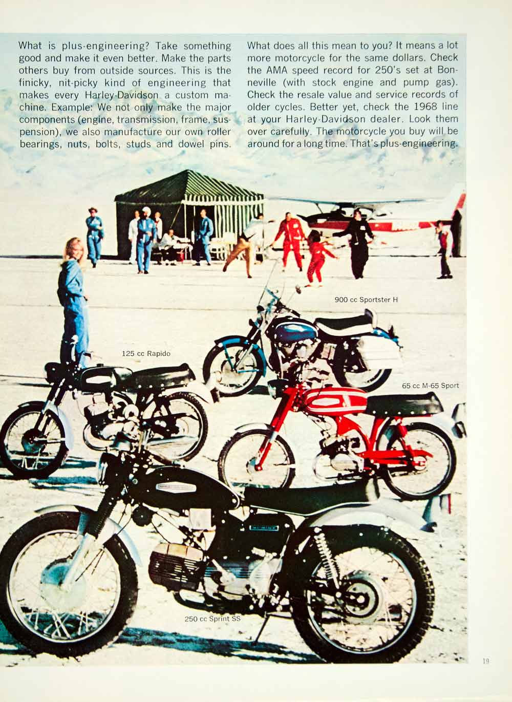 ... 1968 Ad Harley Davidson Motorcycles Sprint H Electra Glide Sportster CH  YMMA3   Period Paper