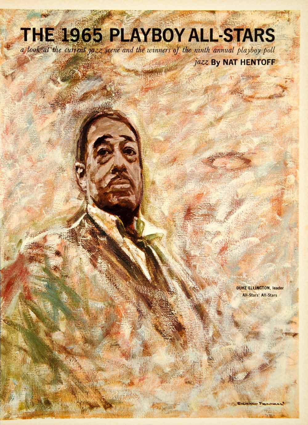 1965 Article Nat Hentoff Jazz Music Duke Ellington Cannonball Adderley YMMA3