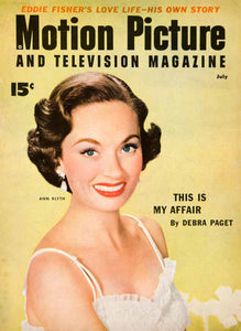 1954 Cover Portrait Motion Picture Television Magazine Ann Blyth Fashion YMP2