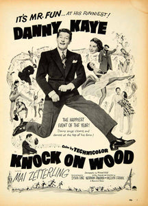 1954 Ad Knock Wood Musical Dance Danny Kaye Mai Zetterling Movie Film Mr YMP2