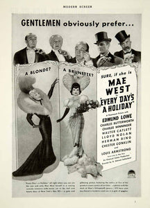 1938 Ad Movie Every Day's a Holiday Mae West 1937 Musical Film Gay 90s YMS2