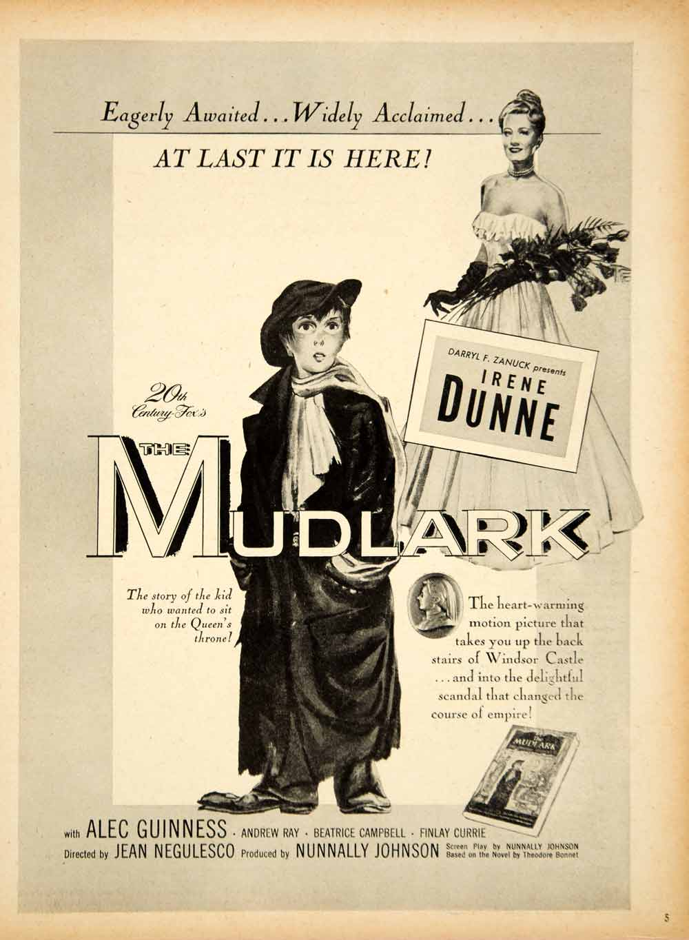 1951 Ad Movie Mudlark Irene Dunne Alec Guinness Jean Negulesco Windsor YMS2