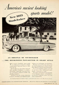1955 Ad Studebaker-Packard President State V8 Hardtop Coupe Sport Car YMT1 - Period Paper