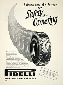 1957 Ad Pirelli Aerflex Blue Riband Tires Car Automobile Parts Garage Auto YMT2