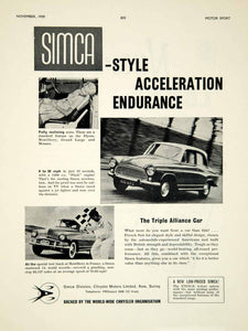 1959 Ad 1960 Simca Aronde P60 2-Door Hardtop Coupe Car Classic Automobile YMT2