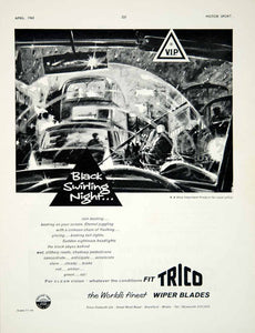 1960 Ad Trico-Folberth Wiper Blades Car Automobile Parts Road Safety Art YMT2
