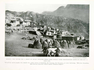 1918 Print Gergeti Village Georgia Caucasus Region Mountains Historic Image YNG3