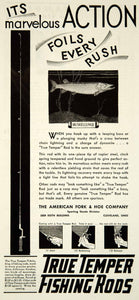1931 Ad True Temper Toledo Fishing Rod Muskellunge 1929 Keith Bldg YNS1