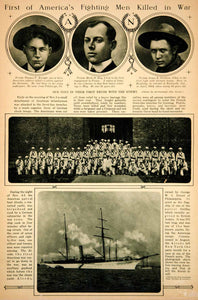 1917 Rotogravure WWI First American Casualties Thomas F Enright Alcedo Crew YNY3