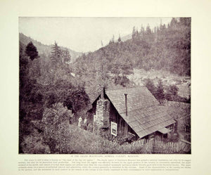 1894 Print Ozark Mountains Howell County Missouri Cottage House Historic YOC2