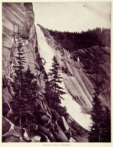 1894 Print Nevada Fall Yosemite National Park California Waterfall Historic YOC2