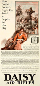 1932 Ad Daniel Boone Daisy Air Rifles Gun Target Weapon Boy Armchair YOR2