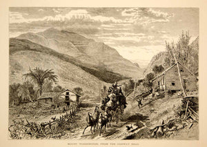 1872 Wood Engraving Mount Washington NH Conway Road Stagecoach Harry Fenn YPA1