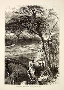 1894 Wood Engraving Lookout Mountain Georgia Landscape Harry Fenn Antique YPA4