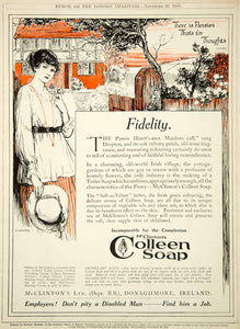 1918 Ad Vintage Colleen Soap Irish Cottage McClinton's Donaghmore Ireland Advert
