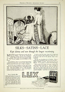 1920 Ad Lux Laundry Soap Fine Laundering Clothes Maid Packing Wardrobe YPP1