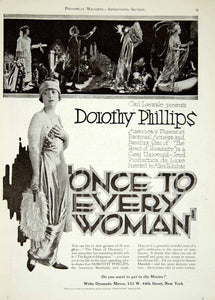 1920 Ad Silent Film Once to Every Woman Dorothy Phillips Allen Holubar YPP1