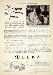 1922 Ad Vintage Melba Skin Cleanser Cream Skin Care Lotion Cosmetics YPP2