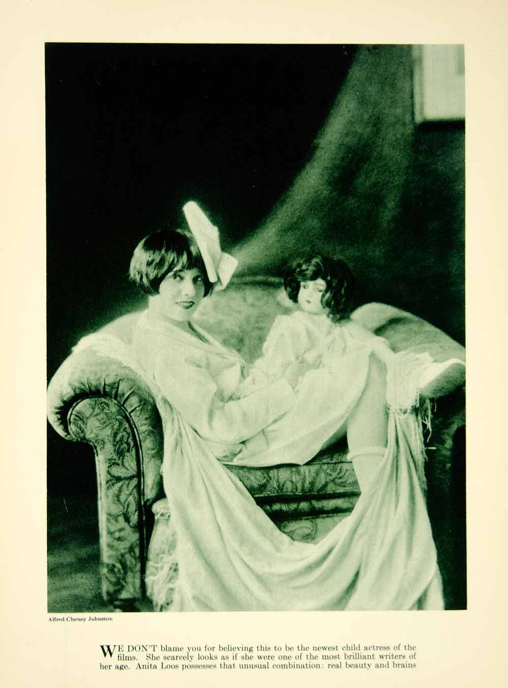 1922 Rotogravure Anita Loos Screenwriter Hollywood Silent Film Motion YPP2