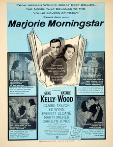 1958 Ad Movie Marjorie Morningstar Gene Kelly Natalie Wood Irving Rapper YPP4
