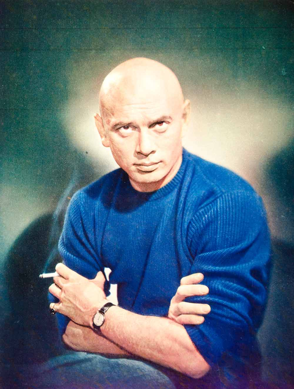 1957 Color Print Yul Brynner Portrait Stage Movie Actor Hollywood Star King YPP4