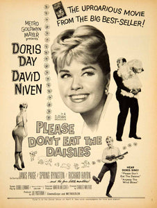 1960 Ad Movie Please Don't Eat the Daisies Doris Day David Niven Jean Kerr YPP5