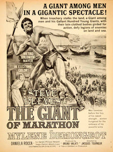 1960 Ad Movie Giant of Marathon 1959 War Italian Film Persia Greece Steve YPP5