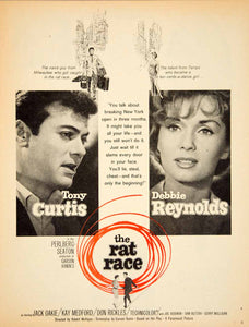 1960 Ad Movie Rat Race Tony Curtis Debbie Reynolds Garson Kanin New York YPP5