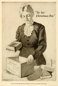1918 Ad General Cigar 119 West 40th St New York Christmas Box WWI Soldier YRC1