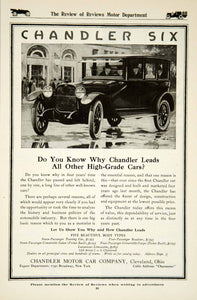 1917 Ad 1918 Chandler Six Motor Car Automobile Brass Era Classic Collector YRR1