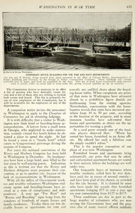 1917 Article WWI Washington DC Mall Wartime Red Cross Building Architecture YRR1