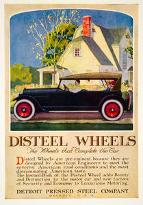 1920 Ad Detroit Pressed Steel Company Disteel Wheels Car Automobile Auto YRR2