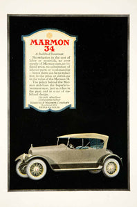 1919 Ad Nordyke Marmon 34 Automobile Car Brass Era Speedster Transportation YSC1