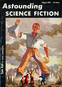 1953 Cover Astounding Science Fiction Art Richard Van Dongen Sam Hall YSFC3
