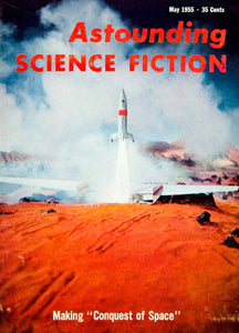 1955 Cover Astounding Science Fiction Paramount Pictures Conquest Space YSFC3