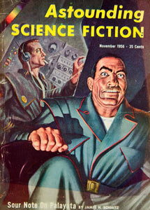 1956 Cover Astounding Science Fiction Art Frank Kelly Freas James H YSFC3