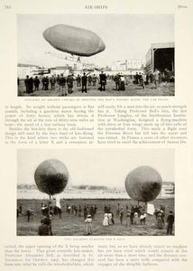 1909 Article Airships Dirigibles Count Zeppelin Day Allen Willey Historic YSN2