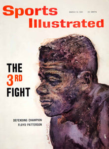 1961 Cover Sports Illustrated Robert Weaver Art Floyd Paterson Heavyweight YSP3
