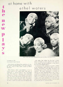 1953 Article At Home with Ethel Waters Review One-Woman Show Theatre NYC YTA4