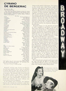 1954 Article Cyrano de Bergerac Play Review Jose Ferrer Arlene Dahl Rostand YTA4